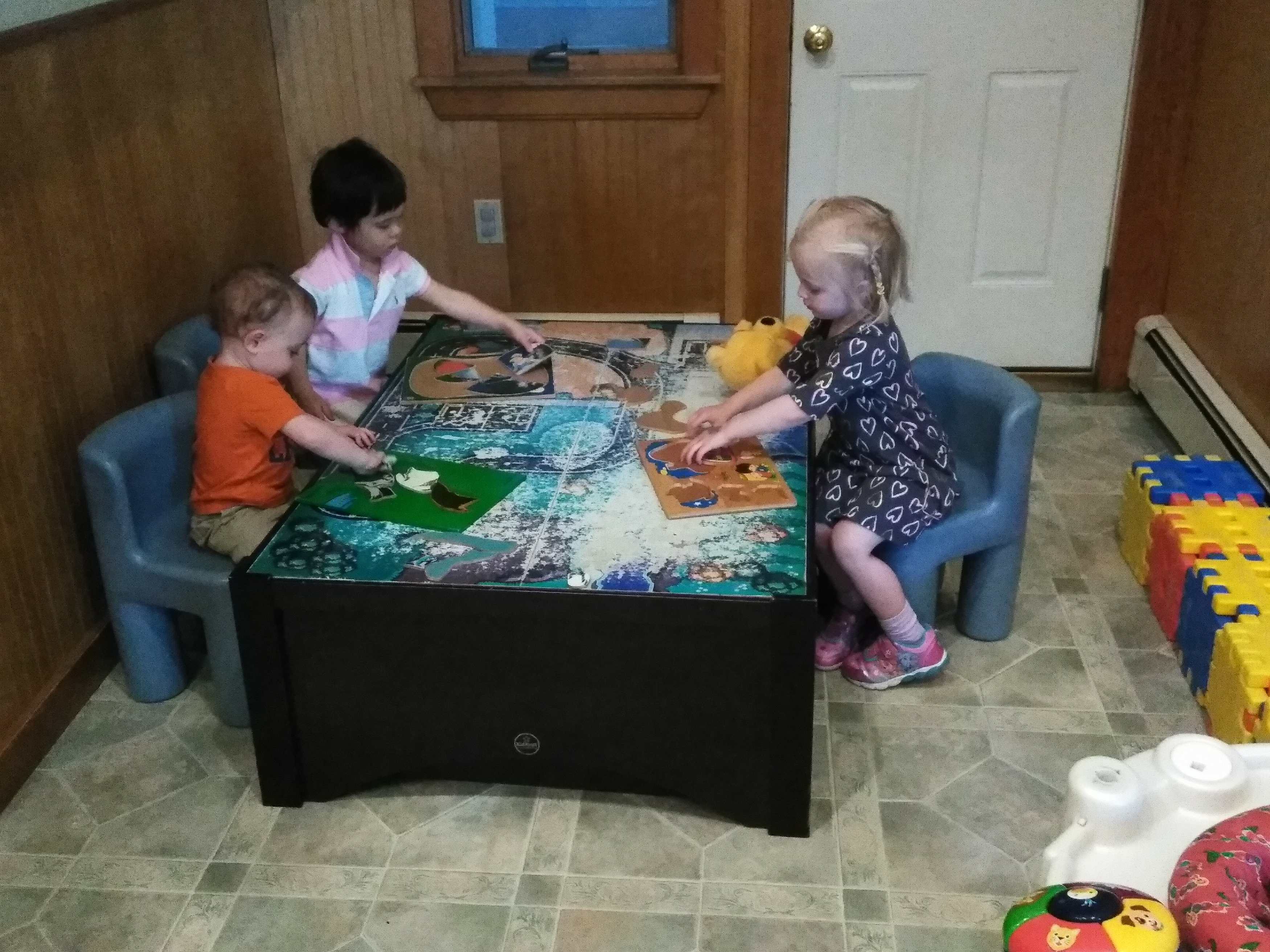 The play table is a favorite.